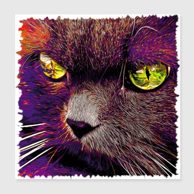 gxp persian cat great eyes evil look vector su - Poster 20x20 cm