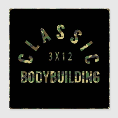 Bodybuilding, Fitness, Gym, Camo-OPTIK - Poster 20x20 cm