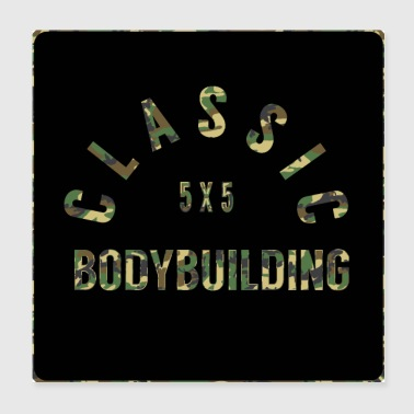 Bodybuilding, fitness, gym, camo-optique - Poster 20 x 20 cm
