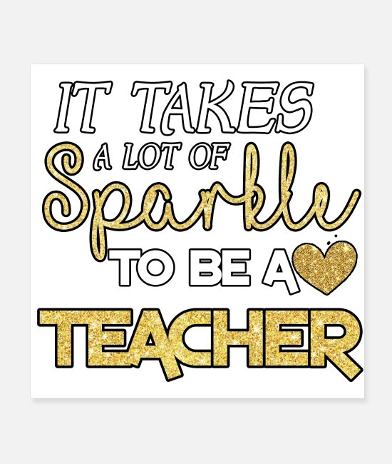 Heart Posters - TEACHER - Posters white