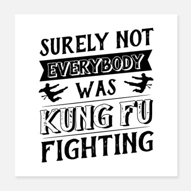 Kingdom surely not everybody was kung fu fighting origin - Poster 20x20 cm