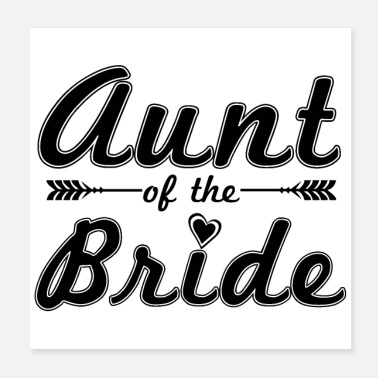 Tante Bachelorette Party Tante of the Bride - Gaveidee - Poster