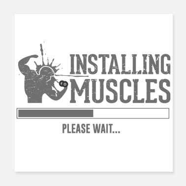 Fitness Fitness Muskeln - Poster 20x20 cm