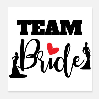 Bryllupsdag Bachelor Party Wedding Bride Gaveidee - Poster 20x20 cm