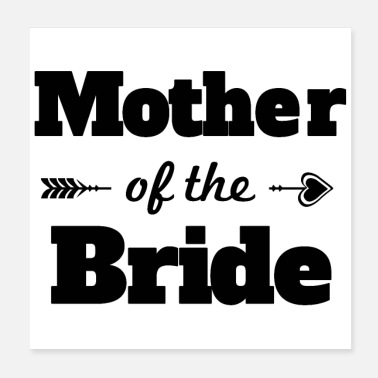 Hen Hen party Mother of the Bride Gift - Poster 20x20 cm