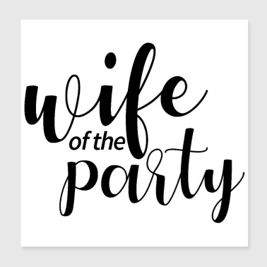 Bachelor Party Wedding Gift Idea - Poster 20x20 cm