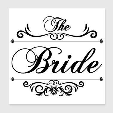 Bachelorette party wedding The bride's gift - Poster 20x20 cm