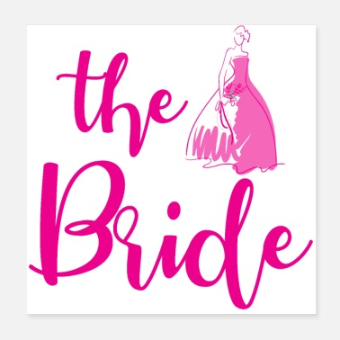 Hen Hen party wedding bridal gift - Poster 20x20 cm