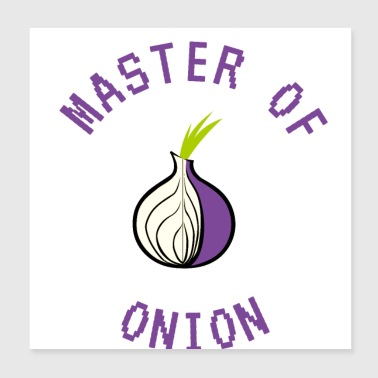 master of onion - Poster 20x20 cm