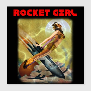 ROCKET GIRL - Juliste 20 x 20 cm