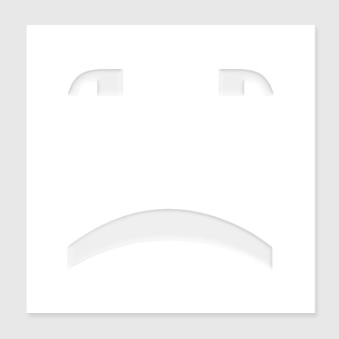 Trauriges Smiley-Gesicht - Poster 20x20 cm