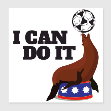 I Can Do It Robben Ball Exercise Balance - Poster 20x20 cm
