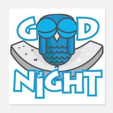 Buonanotte Frasi Online.Ordina Online Poster Con Tema Buonanotte Spreadshirt