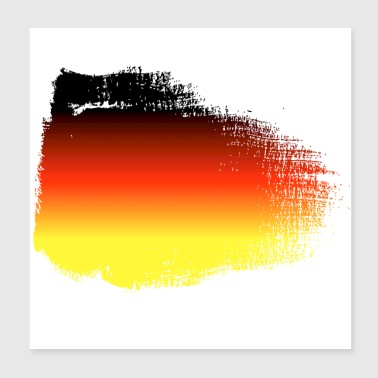 Germany flag - Poster 20x20 cm