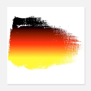 Champ Germany flag - Poster 20x20 cm