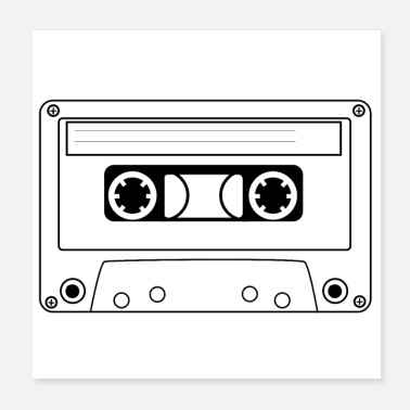 Mp3 Audio cassette, music cassette - Poster