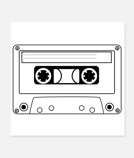 MP3 Posters - Audio cassette, music cassette - Posters white