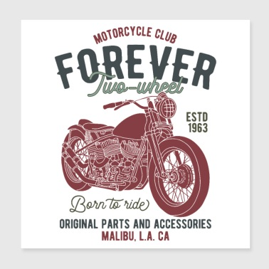Motorcycle shirt - Poster 20x20 cm