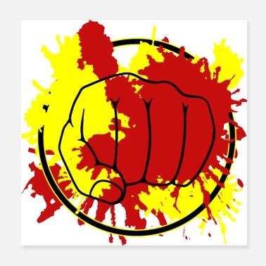 Coup De Poing ColorFist - Poster 20 x 20 cm