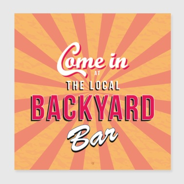 Backyard bar bord / poster - Poster 20x20 cm