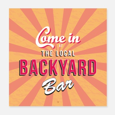 Bar Pub Backyard bar sign / poster - Poster 20x20 cm