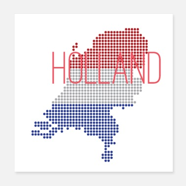 Hollandrad Holland The Netherland Design mit Nationalfarben - Poster