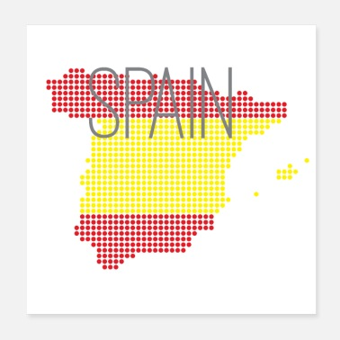 Spanien Spain Spanien Land Design mit Nationalfarben - Poster 20x20 cm