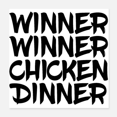 Poker Winner Winner Chicken Dinner PUBG GAMING POKER - Poster 20x20 cm