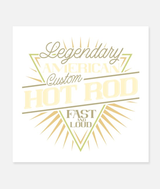 Motorcycle Posters - Legendary American Custom Hot Rod Fast and Loud - Posters white