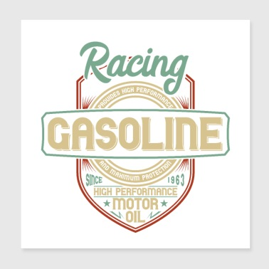 Oil Racing Gasoline High Performance Engine oil - Poster 20x20 cm
