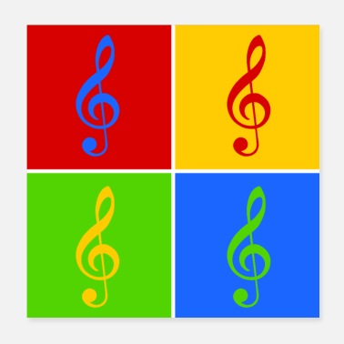 Pop Music Clef Pop Art - Poster