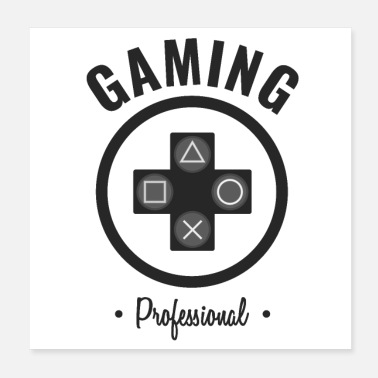 Controller GAMING PRO CONTROLLER DESIGN PROFESSIONAL Schwarz - Poster