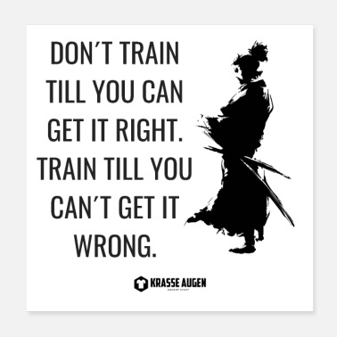 Trainer Samurai train - Poster 20x20 cm