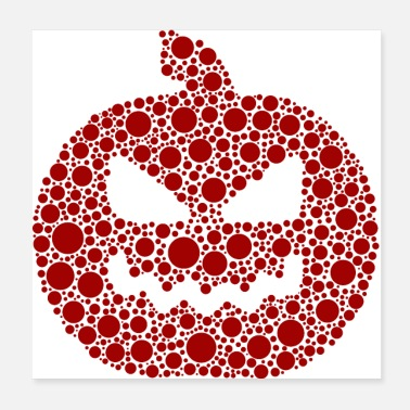 Ängstlich Red Dot Pumpkin - Poster
