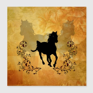 Galop Beau cheval - Poster 20 x 20 cm