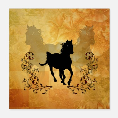 Dressage Beautiful horse - Poster 20x20 cm