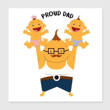 Proud Proud father - Poster 20x20 cm