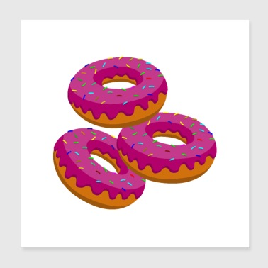 Donut donuts - Poster 20x20 cm