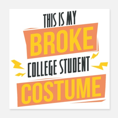 Student Student - This is my broken student costume - Poster