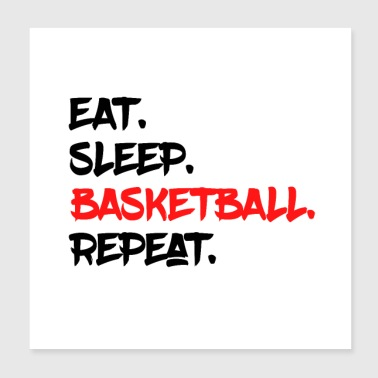 Bolígrafo EAT SLEEP BASKETBALL REPEAT Y - Póster 20x20 cm