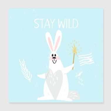 Forest Friends - Magic Bunny - Poster 20x20 cm