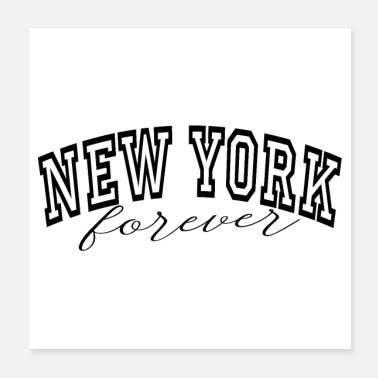 College New York forever - Poster 20x20 cm