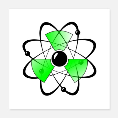 Science Atomic Science - Poster 20x20 cm