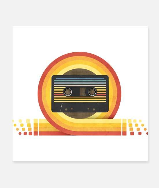 I Love Posters - 70's cassette - Posters white