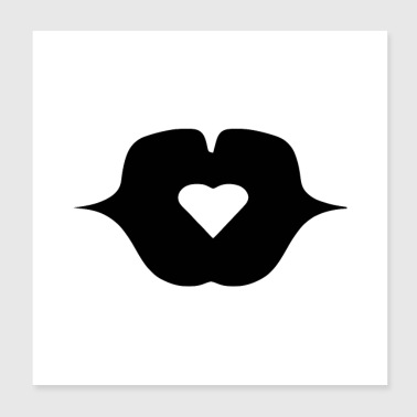 I Heart POSTER BISOU MY HEART - Poster 20x20 cm