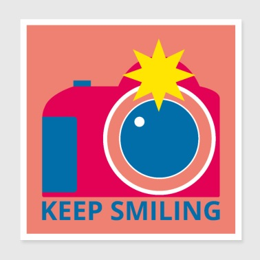 Camera Blijf lachen POSTER - Poster 20x20 cm