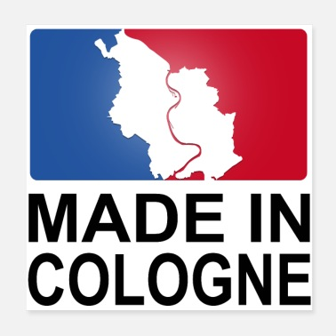Sporty Made in Cologne Cologne Logo sporty - Poster 20x20 cm