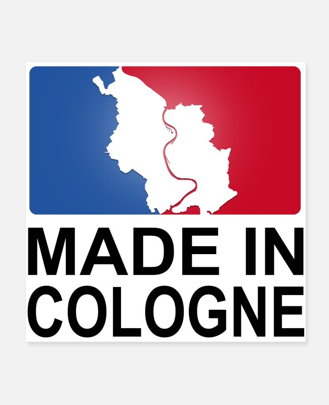 Proud Posters - Made in Cologne Cologne Logo sporty - Posters white