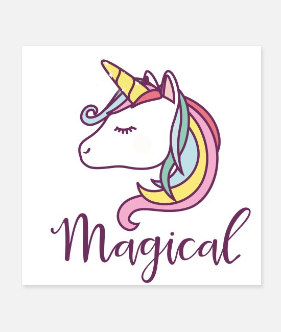 Fairy Tail Posters - Magic Unicorn | Magical Unicorn - Posters white