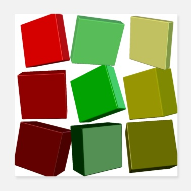 Square Colorful squares - Poster 20x20 cm